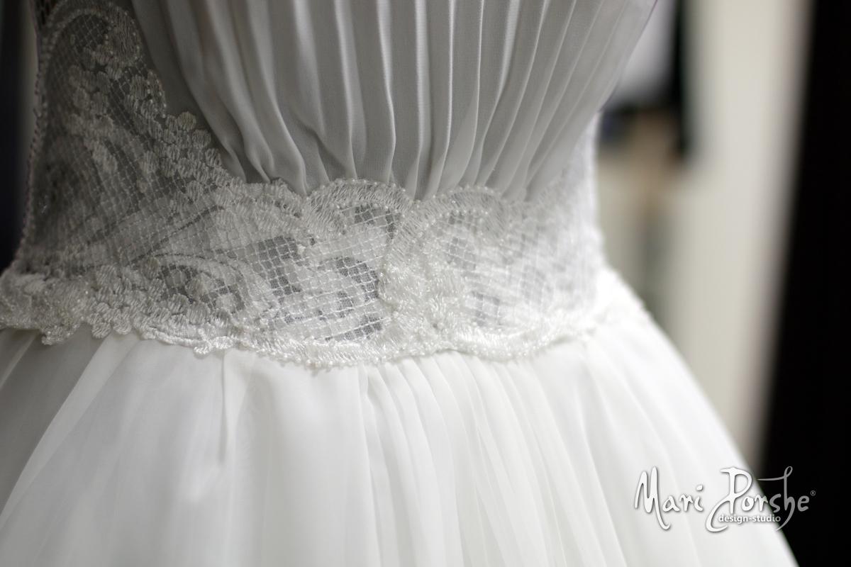 """Свадебное платье """"Плиссе"""" пояс"""