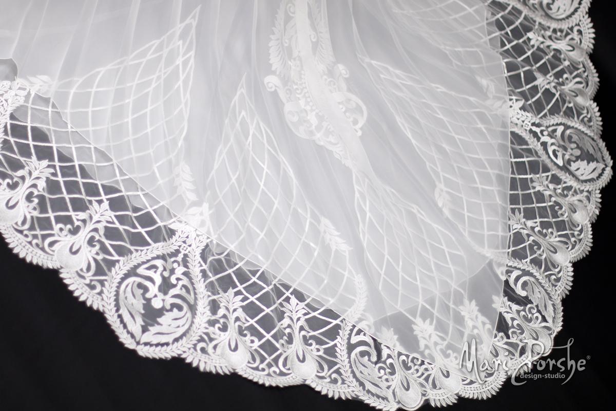 """Свадебное платье """"Плиссе"""" шлейф"""